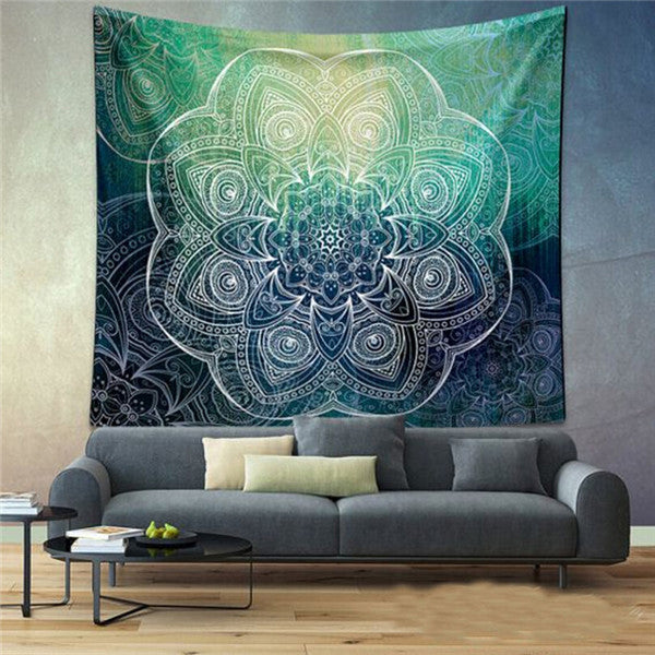 Elephant Tapestry Colored Printed Decorative Mandala Tapestry Indian Beach Blanket 130cmx150cm 153cmx203cm Boho Wall Carpet Color 11 / 203cmx153cm,  - JKK Mart, JKK Mart - 4