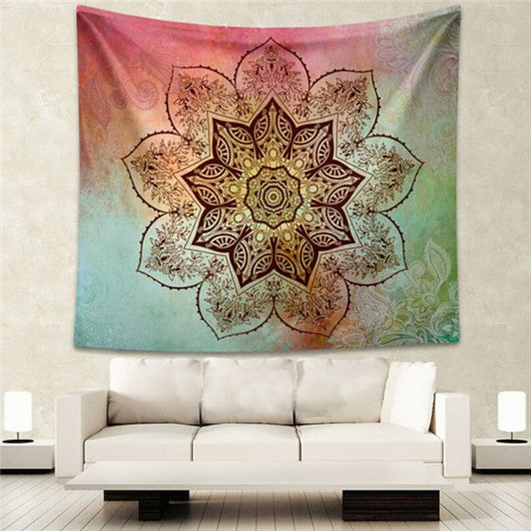 Elephant Tapestry Colored Printed Decorative Mandala Tapestry Indian Beach Blanket 130cmx150cm 153cmx203cm Boho Wall Carpet Color 13 / 203cmx153cm,  - JKK Mart, JKK Mart - 5