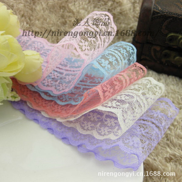 New! Free shipping of beautiful lace ribbon, 4.5 cm wide, DIY Clothing / Accesso - JKK Mart