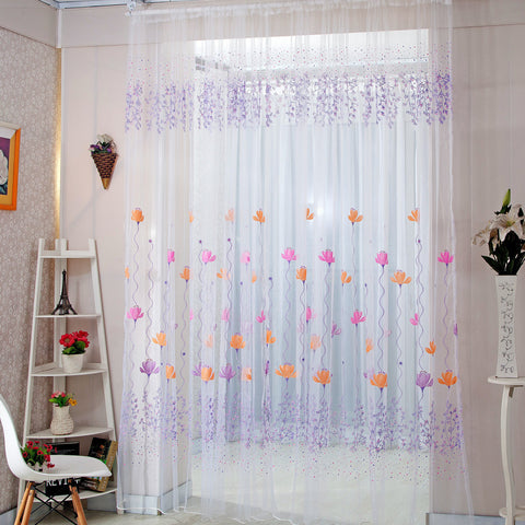 Home Decor Drapes Sheer Window Curtains for Living Room Bedroom Kitchen Modern T ,  - JKK Mart, JKK Mart - 1