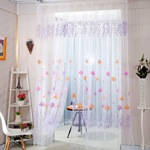 Home Decor Drapes Sheer Window Curtains for Living Room Bedroom Kitchen Modern T 02,  - JKK Mart, JKK Mart - 2