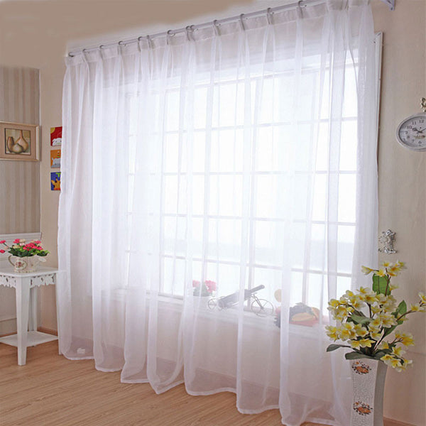 Kitchen Tulle Curtains Translucidus Modern Home Window Decoration White Sheer Vo ,  - JKK Mart, JKK Mart