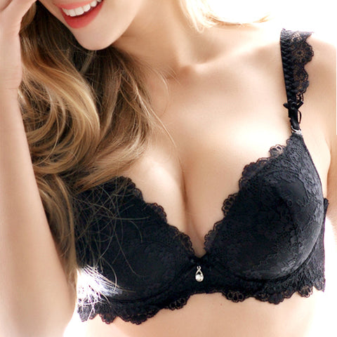 26d4f91645 Women s underwear Set Lace Sexy Push-up Bra Panty Sets Bow Comfortable  Brassiere Young Bra