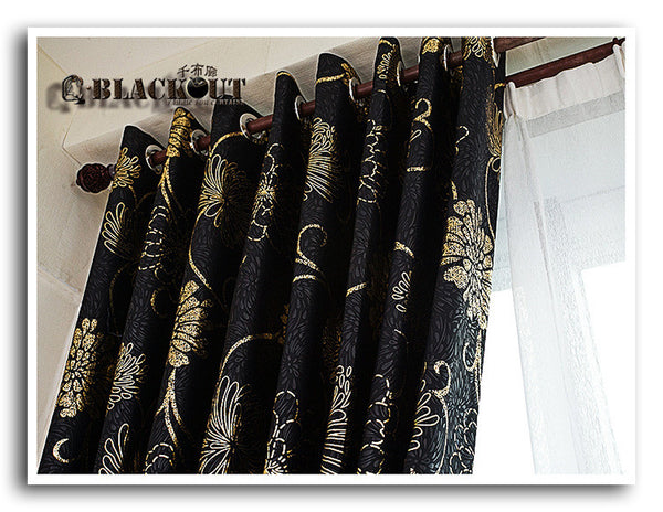 Anticorrosive Metal Grommet beautiful black and gold curtains black and silver c 1 / 100x260cm,  - JKK Mart, JKK Mart - 3