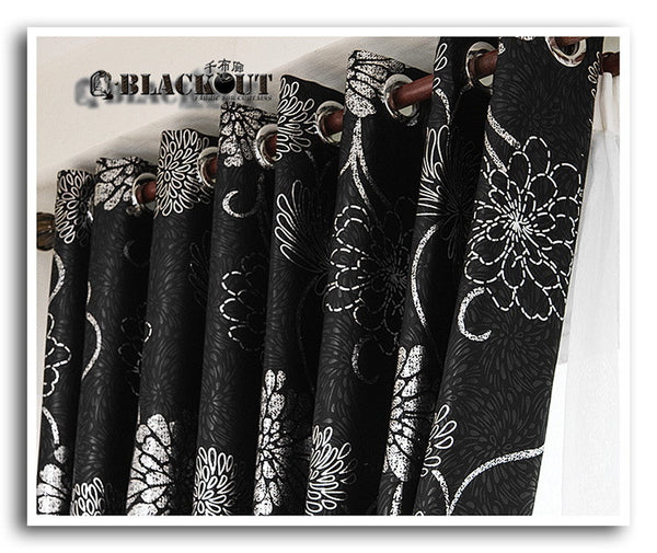 Anticorrosive Metal Grommet beautiful black and gold curtains black and silver c 2 / 100x260cm,  - JKK Mart, JKK Mart - 2