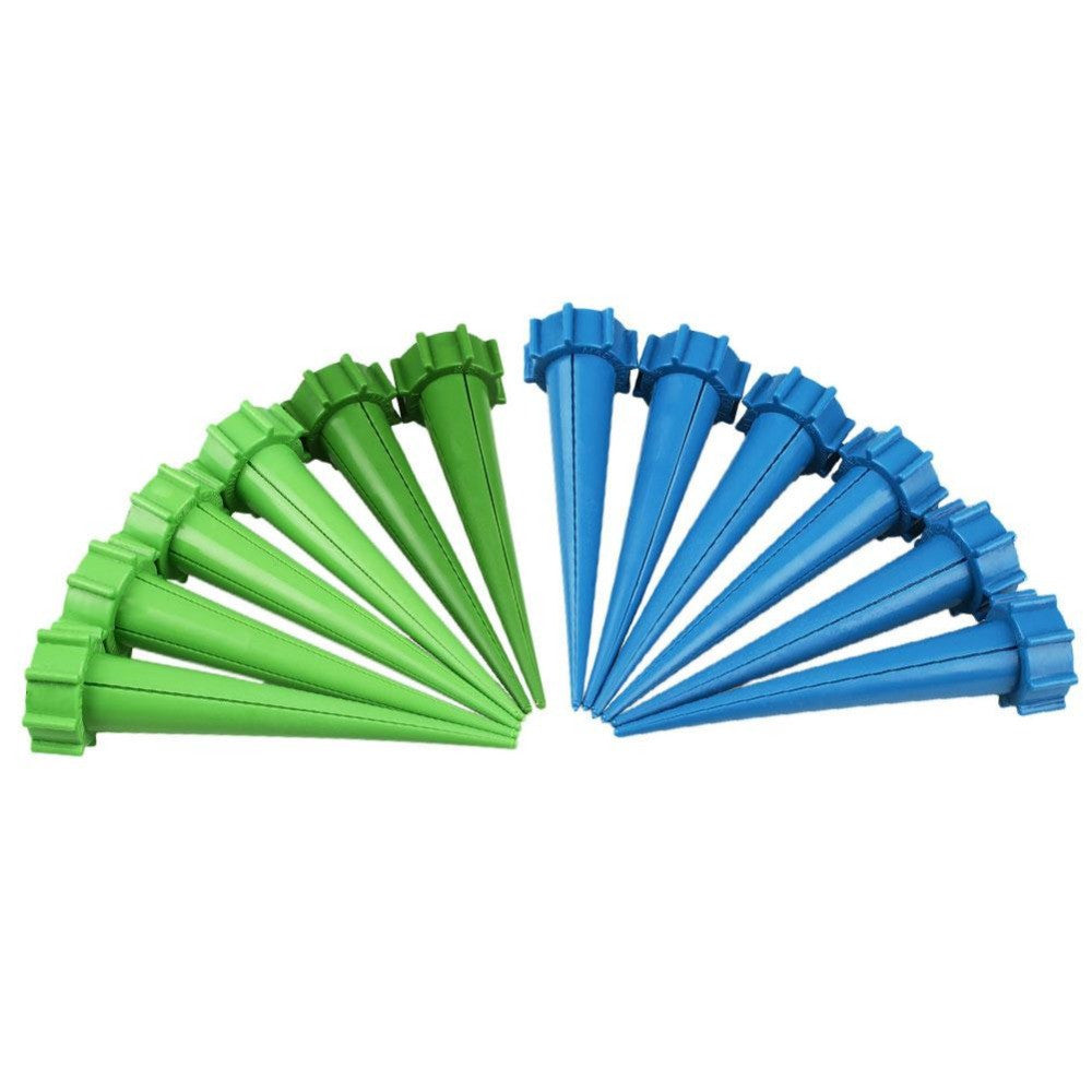 12 pcs/lot Automatic Watering Irrigation Spikes Garden Plant Flower Bottle Dripp ,  - JKK Mart, JKK Mart - 1