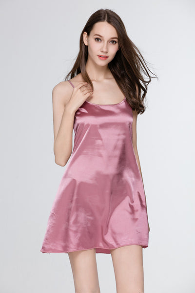 Fashion Summer Sleepwear Women Night Dress Indoor Clothing Plus Size Silk Sleeve - JKK Mart