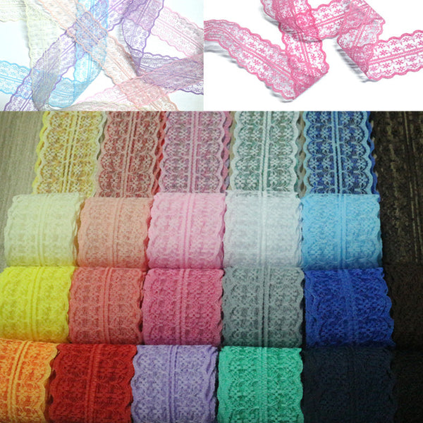 High Quality 1 yard Lace Applique  Ribbon Lace Trim  Sewing Accessories Trim Fab - JKK Mart