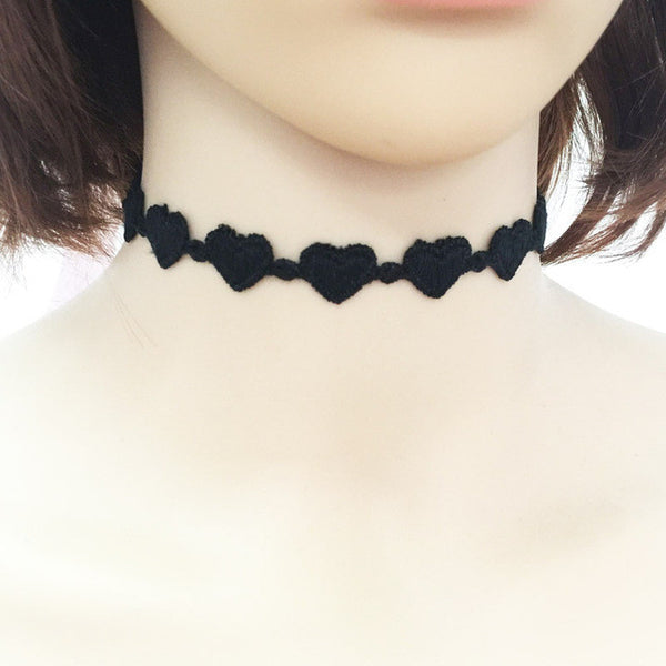 New fashion jewelry cool cloth Lace Tattoo choker necklace gift for women girl N - JKK Mart