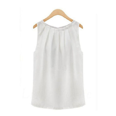 1PC Fashion Simple fashion women summer sleeveless casual tank shirt blouse vest