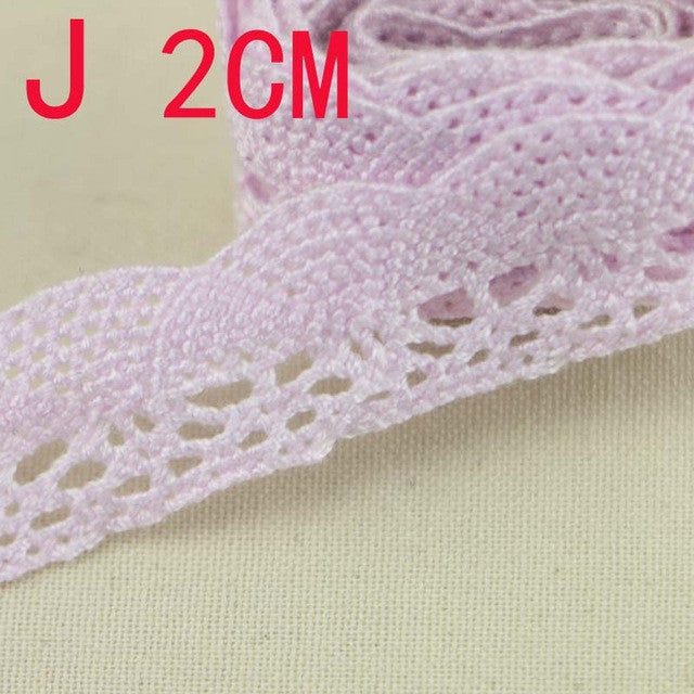 5YARD  Braided Cotton Lace Trim For DIY Sewing Curtain Craft Decorative 15-2MM L - JKK Mart