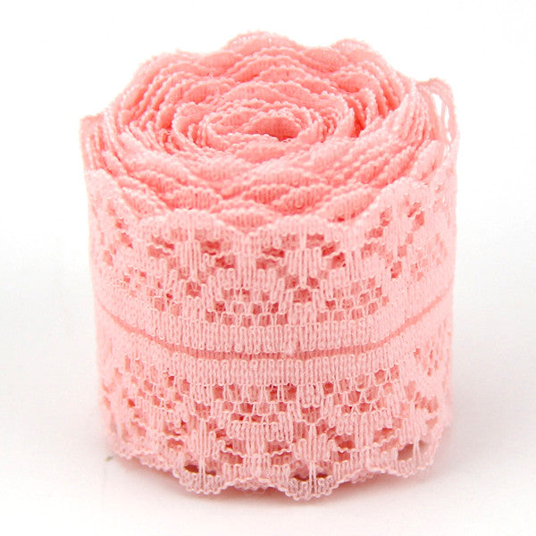 10Yard/Lot (9m) Width 30MM New Selling Lace Ribbon DIY Embroidered Net Lace Trim - JKK Mart