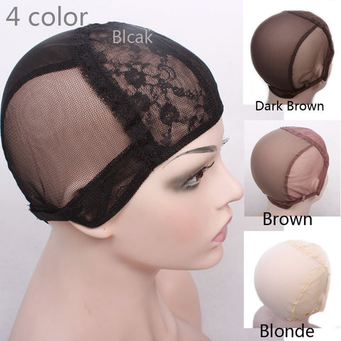 Wig cap for making wigs with adjustable strap on the back weaving cap size S/M/L - JKK Mart
