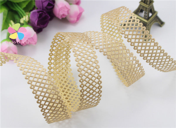 2.2cm multi color option Nets Ribbon Lace Trim Decoration 2y/lot D040051014