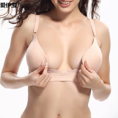 100% Cotton Front Button Bra For Pregnant Women Breast Feeding Underwear kF201