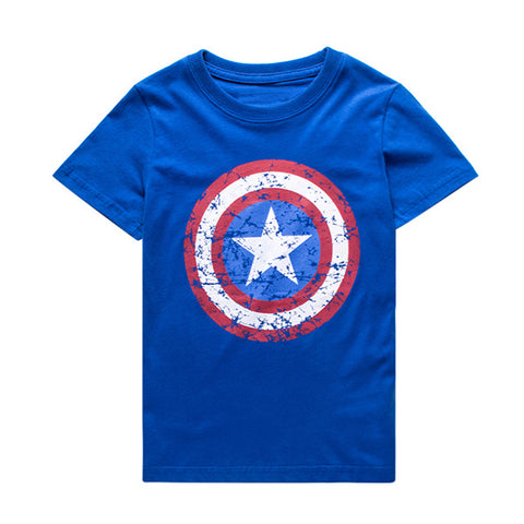 Summer Boys T shirt Clothes Captain America Kids T-shirts For 1~11 Y Boy Cartoon