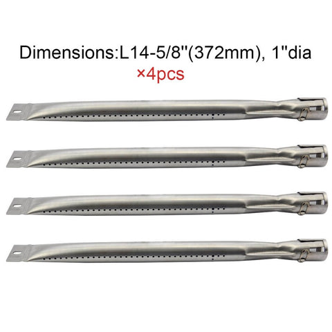 4pack Grill King 14251 BBQ Parts Gas Grill Replacement 14.6 Inch Straight Stainl