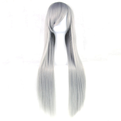24 Colors 80cm Long Women Wig Heat Resistant Pink Gray Straight Cosplay Wigs - JKK Mart