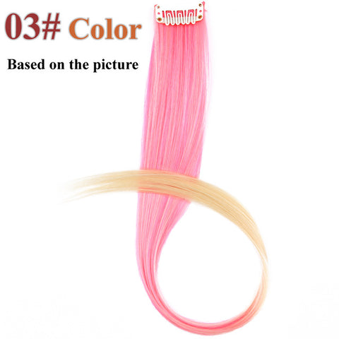 Made 20 Colors 50CM Single Clip In One Piece Hair Extensions Synthetic Long Stra