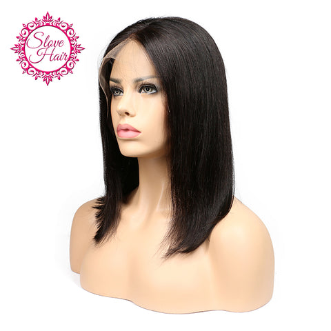 Human Short Bob Wigs For Black Women Brazilian  Hair Lace Front Human Hair Wigs