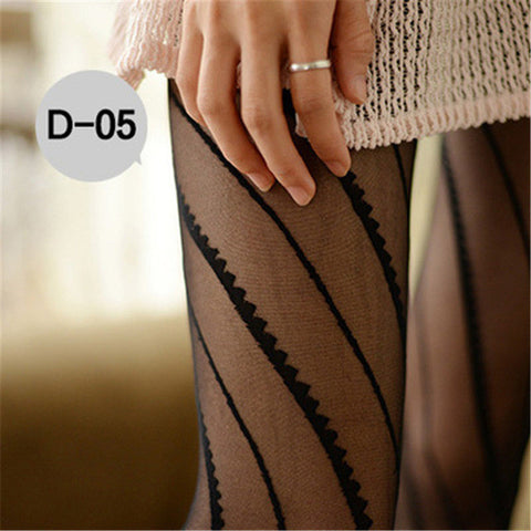 Women's Tights Sexy Black Fishnet Pantyhose Female Summer Ultra Slim Hosiery Tat - JKK Mart