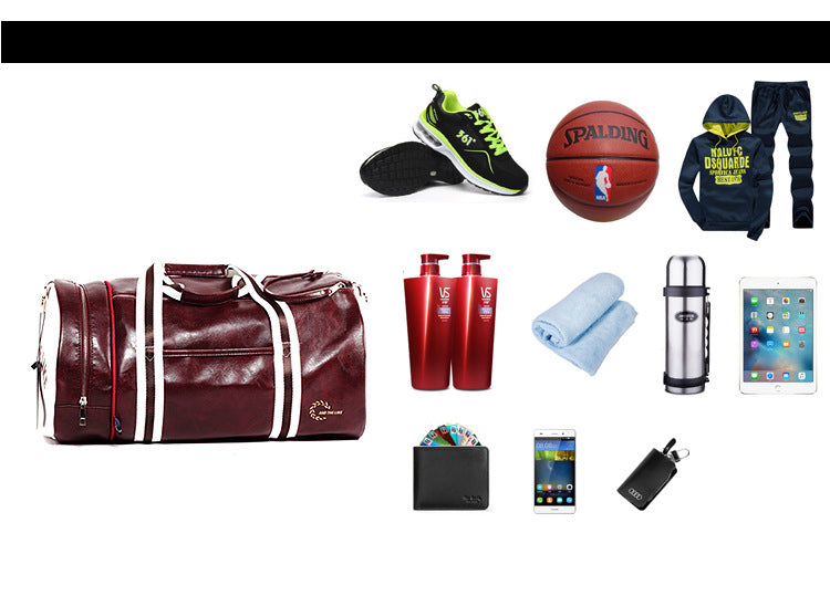PU Outdoor Sports Gym Bag Multi function Training Fitness Shoulder Bag With  Shoe 23deebf07f