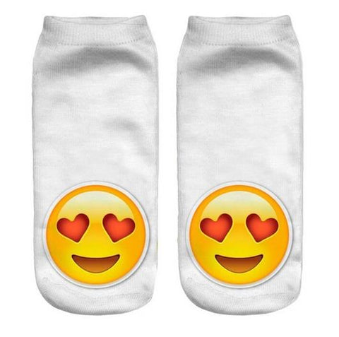 Women Men Cotton Socks Pattern Meias Feminina Low Ankle - JKK Mart