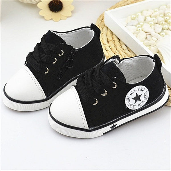 1cade562cbbf Baby Girls Boys Canvas Shoes 1-3 Years Old 4 Color Comfortable Kids Toddler  -