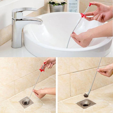 Home Bathroom Drain Filter Cleaner Sewer  Kitchen Sink Dredge Device Cleaning To - JKK Mart