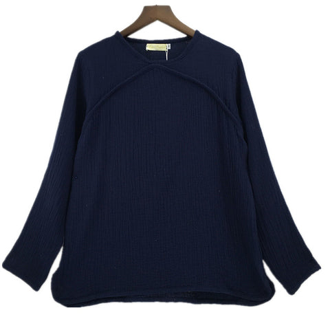 Blouse Plus Size Women Long Sleeve Cotton Linen Shirts Tops