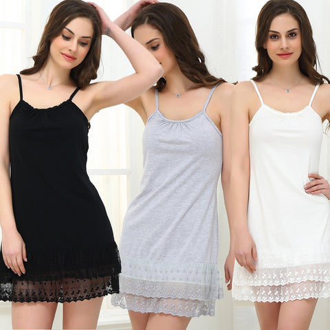 Women Maternity Sleepwear Summer Dress Female Lace Sexy Chemise Tunic Cotton plu - JKK Mart