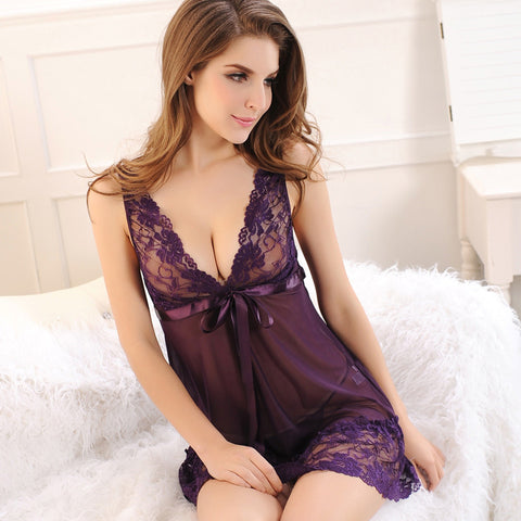 Lace Nightgown Women Sleepwear Pyjamas Nightwear Sexy Lingerie