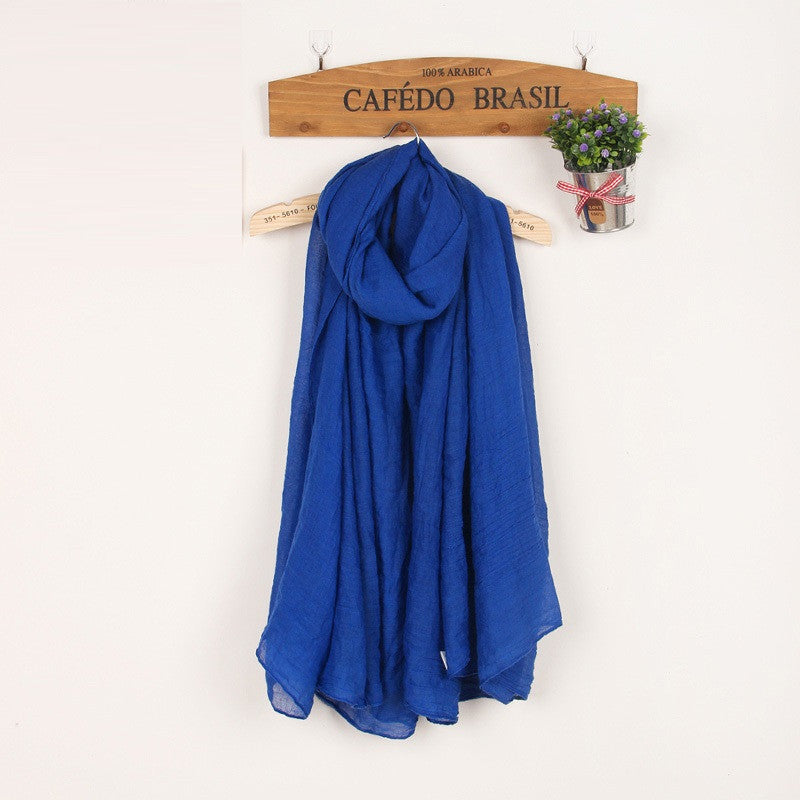 JKK Mart Winter and Autumn Scarf Women High Quality Shawls And Scarves Linen Cot , Scarves - JKK Mart, JKK Mart - 6