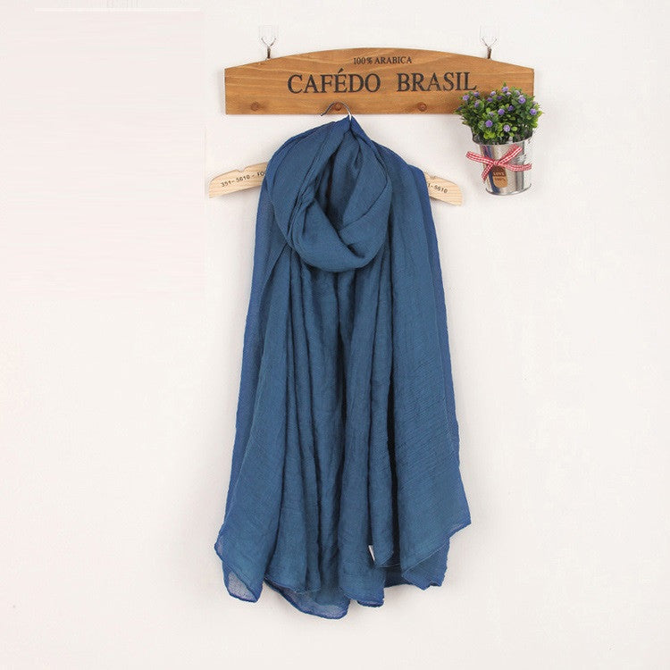 JKK Mart Winter and Autumn Scarf Women High Quality Shawls And Scarves Linen Cot , Scarves - JKK Mart, JKK Mart - 25