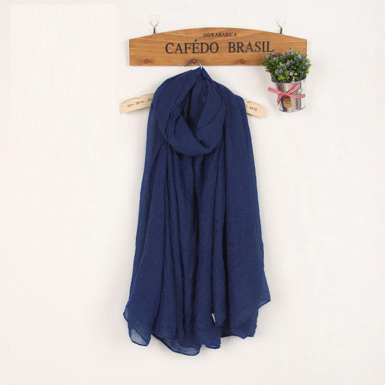 JKK Mart Winter and Autumn Scarf Women High Quality Shawls And Scarves Linen Cot , Scarves - JKK Mart, JKK Mart - 12