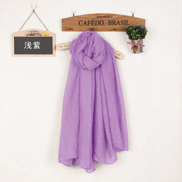 JKK Mart Winter and Autumn Scarf Women High Quality Shawls And Scarves Linen Cot subalpine, Scarves - JKK Mart, JKK Mart - 10