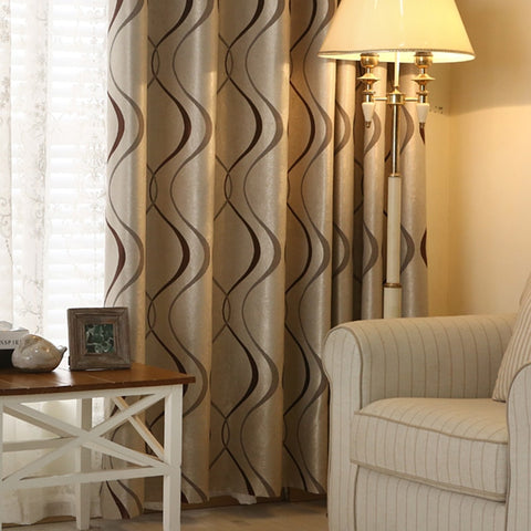 1 Pc Thick Luxury Wavy Striped Curtain Design for Living Room Bedroom Home Decor