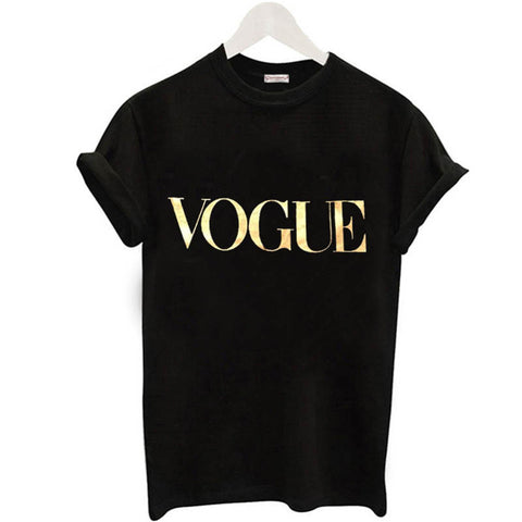 Summer Shirt For Women VOGUE t-shirt With Print Tops Tee New Arrival Sales Leader Women's T-Shirt