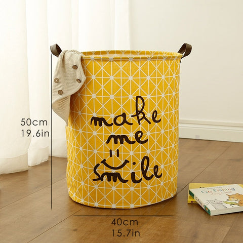1 Pc Large Laundry Basket Toy Storage Picnic Basket Box Cotton Washing Clothes Baby Orgnizer