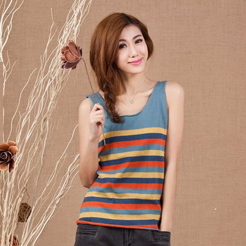 9f49e79aefeee9 Women tops Ladies Tee Shirts Casual knitwear colour bar tank top female tops  pullover splicing Cotton shirt.  32.53. Women Tops Tees Long Sleeve Off ...