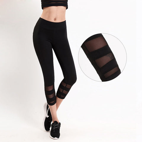 New Summer Style Black Women Leggings Fitness Mesh Breathable Female Comfortable Gyming Workout Pants