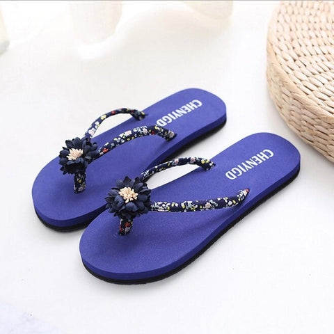 Women Shoes Beach Flip Flops Summer Female Beach Slippers Floral Flip Flop Slipp