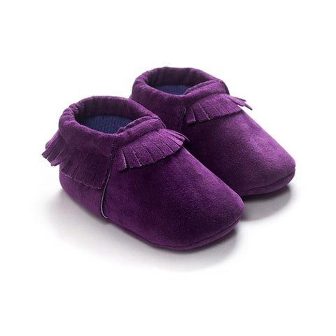 One Pair PU Suede Leather Newborn Baby Boy Girl Moccasins Soft Shoes Fringe Soft