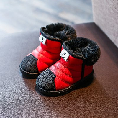 1Pair Winter Children'S Snow For Kids Baby Boys Waterproof Non-Slip Boots Shoes