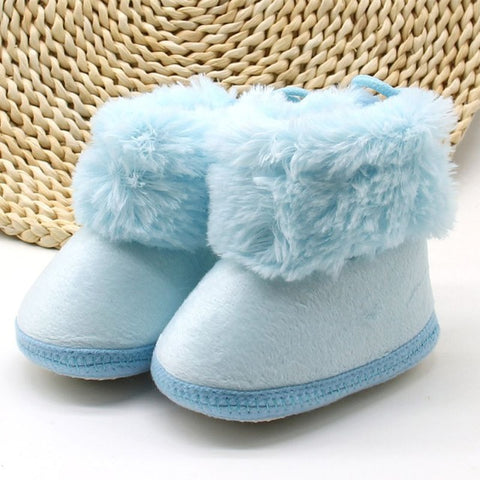 Baby Girls Winter Sweet Newborn Princess Boots First Walkers Soft Soled Infant T