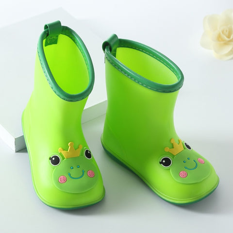 1 Pair Fashion classic children's shoes PVC rubber kids baby cartoon water waterproof Rain boots