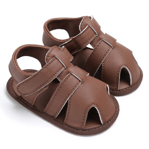 1Pair Baby Boys Summer newborn Shoes PU Leather kids First Walkers Soft Soled