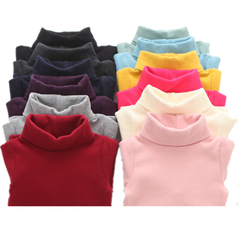 aab6d2ba7 Autumn Winter Children Turtleneck Kids Sweaters Girls Sweater Boys ...