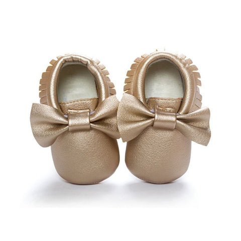 1 Pair Baby Girls Shoes Tassels PU Leather Waterproof Baby Shoes Newborn Moccasi