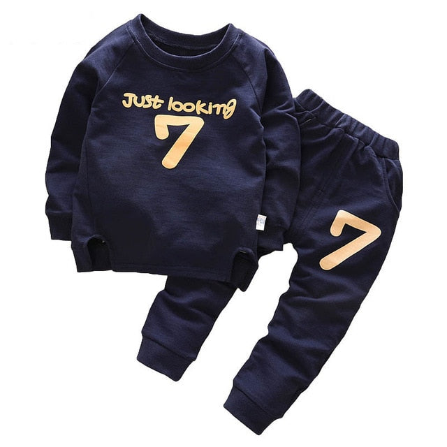 cc05706fa 2pcs Children Clothing Autumn Winter Boys Clothes T-shirt+Pant Outfit – JKK  Mart